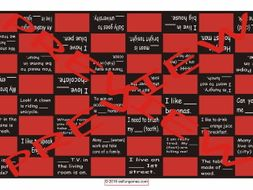 Nouns and Articles Checker Board Game