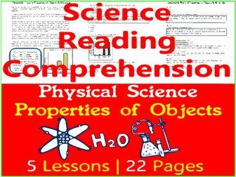 Properties of Objects & Materials - Physical Science Reading - Grade 3-4