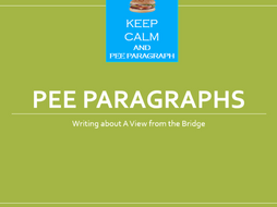 PEE paragraphs - A View from the Bridge