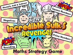 Number Skills Maths Strategy Game - Super Hero Edition
