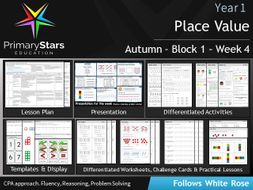 YEAR 1 - Place value - White Rose - WEEK 4 - Block 1 - Autumn - Differentiated Planning & Resources