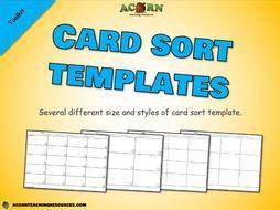 Card sort templates