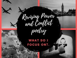 GCSE Power and Conflict Poetry Overview Help sheet