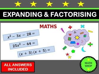 Expanding and Factorising Algebra