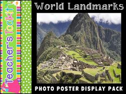 World Landmarks | Photo Posters | Reference | Display