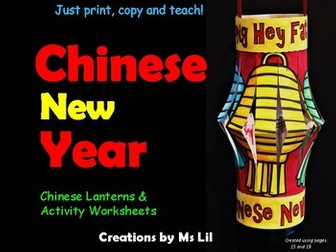 Chinese New Year  ::  Chinese Lanterns ::  Chinese New Year Craft