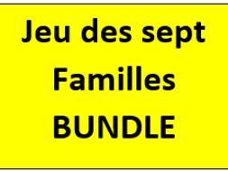 Jeu des sept Familles French Vocabulary Bundle