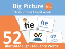 Big Picture Illustrated Dolch Sightwords Set 1