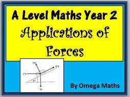 Maths A Level Year 2 Applications of Forces Notes and Examples