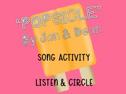 """Popsicle"" by Jan & Dean Song Activity/ Listen & Circle FREE"