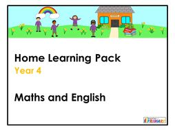 Year 4 Home Learning Pack - Maths and English