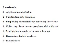 Algebra for GCSE/IGCSE worksheets (with solutions)