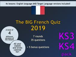 The BIG French Quiz 2019 (KS3/KS4)
