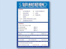 Set Notation (Poster)