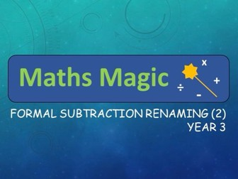 Subtraction with Renaming Formal Method Interactive Lesson (2) Y3
