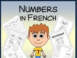 French Numbers Vocabulary Sheets, Printables, and Memory Game