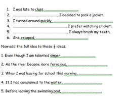 It is a graphic of Crafty Free Printable Worksheets on Simple Compound and Complex Sentences