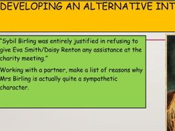 An Inspector Calls Sybil and Sheila Character Revision