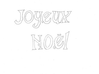 Joyeux Noel Christmas Colouring Page