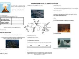 Richard Hammonds Journey to the bottom of the Ocean - Worksheet to support the BBC Documentary