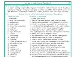 Airports and Hotels Explanation-Definitions
