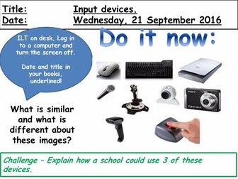 Hardware - Input and Output devices (WJEC GCSE Computing)