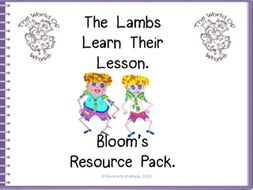 Book 3 – The Lambs Learn Their Lesson – Bloom's Resource Pack by The World Of Whyse.