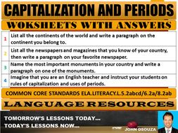 Capitalization exercises with answers