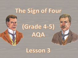 Detective Genre - Lesson 3 (The Sign of Four)