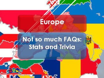 Tutor Time: Citizenship: Europe Day; Stats and Trivia