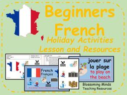 french lesson and resources ks2 holiday activities by blossomingminds teaching resources. Black Bedroom Furniture Sets. Home Design Ideas