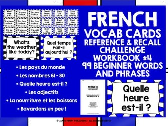 FRENCH VOCABULARY CARDS 4