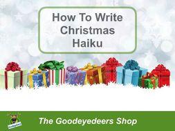 How To Write Christmas Haiku