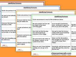 KS2 Identifying Pronouns Test Practice GPS SATs Questions