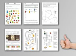7 Food cover work / cover lessons - Tried and tested worksheets