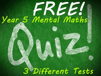 FREE Year 5 PowerPoint Mental Maths Tests (3 weeks)