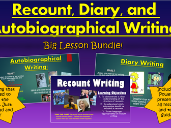Recount, Diary, and Autobiographical Writing!