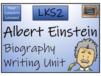 LKS2 Science - Albert Einstein Biography Writing Activity