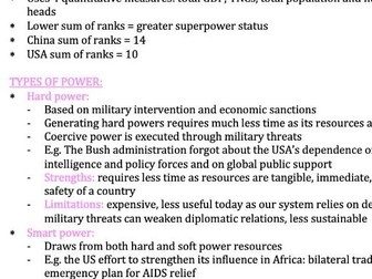 Superpowers - Edexcel Geography A-Level 9GEO
