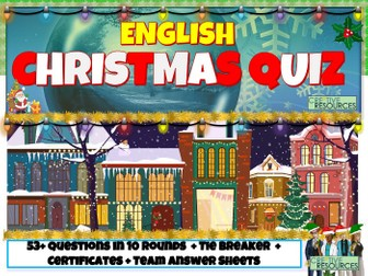 Christmas English Quiz 2020