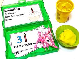 Birthday Math Activity Counting Work Task Box for Special Education