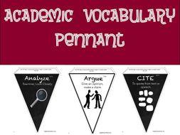 Academic Vocabulary Pennant