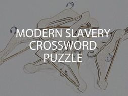 Modern Slavery Crossword Puzzle (US)