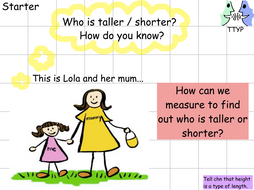 Year 1 - Measurement - Compare Lengths and Heights - Lesson 1