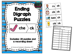 Ending Digraphs Puzzles