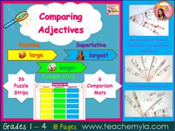 Adjective Fans - Positive, Comparative and Superlative