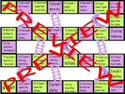 Conditional Sentences Type 3 Chutes and Ladders Board Game