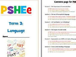 PSHE - Language and Communication