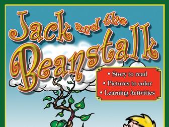 Jack & the Beanstalk: Read & Color