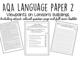 AQA GCSE Language Paper 2: Buildings of London by